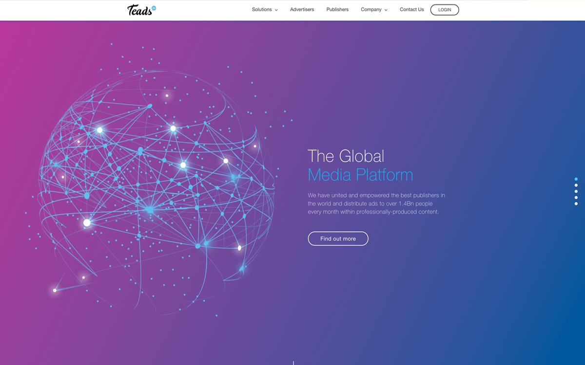 WEBデザインの潮流:メディアプラットフォームTEADS