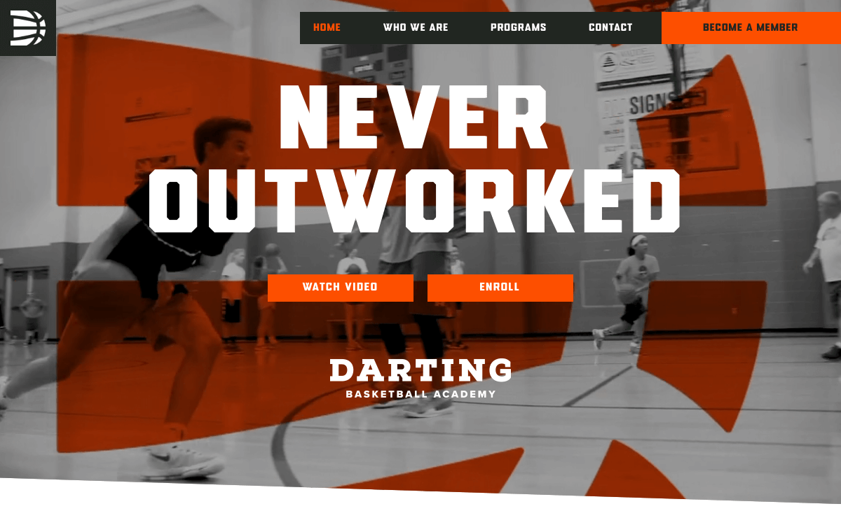 WEBデザインの潮流:Darting Basketball Academy
